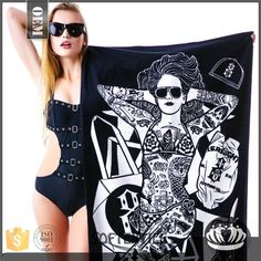 2017 china manufacturer 3d picture beach towels hot sexi girls photos
