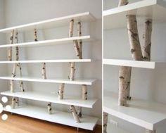 like the idea of continuity in branches...Een kast met berkenbomen, je zou er haast een berk voor omhalen.....