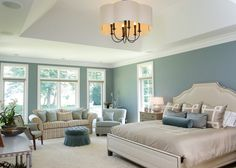 Fresh Bedroom Design Colour Schemes with Modern Theme: Traditional Blue Themed Bedroom Design Colour Schemes Bedroom With Neutral Cream Furniture Concept To Balance For Home Design Inspiration