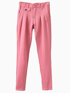 Pink Pleated Pants | Choies