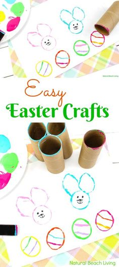 Easy Easter Bunny Crafts, These are some of the easiest and cutest DIY Easter Bunny and Egg Crafts Kids can make themselves, Easter Bunny Craft Ideas, Easy Easter Bunny Crafts for Kids, Preschool Easter Bunny Crafts, Easter Bunny Craft, Toilet Paper Roll Craft for Easter, DIY Easter Stampers for Kids, Easter Art for preschoolers #easter #easterbunny #eastereggs #eastercrafts