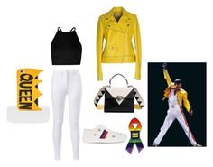 """Freddie Mercury"" by karlyd17 ❤ liked on Polyvore featuring Pinko, Boohoo, Gucci and Missguided"