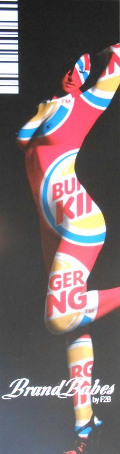 Brandbabes Burger King, 150x40cm, Dibond