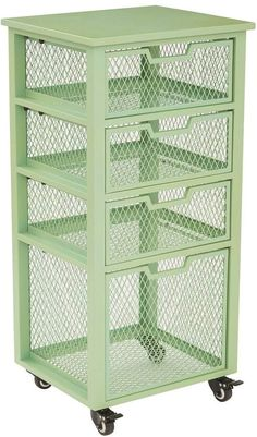 Featuring a mesh cage design, this OSP Designs Clayton rolling cart offers easy access to all of your essentials. Cool Kitchen Gadgets, Kitchen Items, Home Decor Kitchen, Kitchen Furniture, Cool Kitchens, Diy Kitchen Storage, Kitchen Organization, Organizing, Vegetable Storage