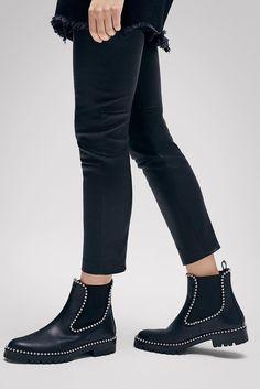 ALEXANDER WANG | Embellished Leather Ankle Boots | STYLEBOP.com