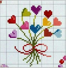 Butterfly Cross Stitch, Mini Cross Stitch, Cross Stitch Heart, Cross Stitching, Cross Stitch Embroidery, Hand Embroidery, Cross Stitch Patterns, Felt Hearts, Loom Patterns