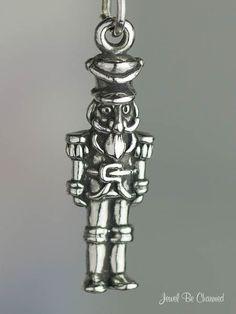 Nutcracker Charm Sterling Silver for a Christmas by jewelbecharmed. , via Etsy.