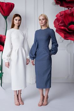 "Dress peas - 26 990 rubles, Dress ""Lily"" w . Fashion Mode, Modest Fashion, Look Fashion, Hijab Fashion, Fashion Dresses, Womens Fashion, Fashion Design, Fashion Details, Fashion Ideas"