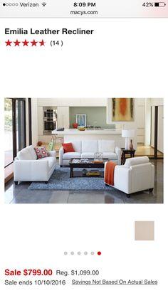 emilia leather sofa set sofa and loveseat furniture macyu0027s - Macys Living Room Furniture