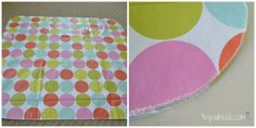 Splat Mat Tutorial {Protect the Floors Under a Highchair} - with vinyl table cloths
