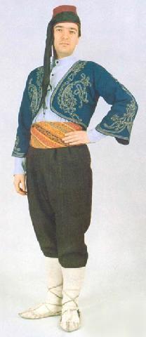 Traditional festive costume from the 'Teke' region (Burdur, Isparta, Elmalı). Style:1925-1950. This is a recent workshop-made copy, as worn by folk dance groups.