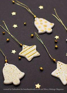 Χριστουγεννιάτικα διακοσμητικά για δώρα απο πηλό!   Φτιάξτο μόνος σου - Κατασκευές DIY - Do it yourself