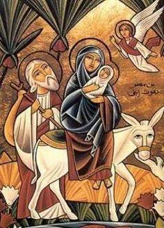 mary, joseph and jesus on a donkey