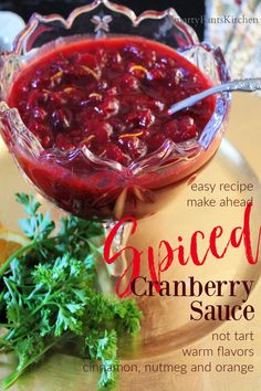 Delicious, all-natural, homemade Cranberry Sauce - NOT TART...easy holiday recipe; make ahead Fresh Cranberry Sauce, Cranberry Relish, Easy Holiday Recipes, Thanksgiving Recipes, Dinner Recipes, Easy Recipes For Beginners, Cooking For Beginners, Relish Recipes, Pecan Recipes