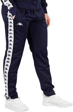 b9ff3c450d Kappa Mens 222 Banda Astoria Slim Track Pants Blue Marine/White L at Amazon  Men's Clothing store: