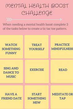 Looking for a way to boost your mood? Take the mental health boost challenge!