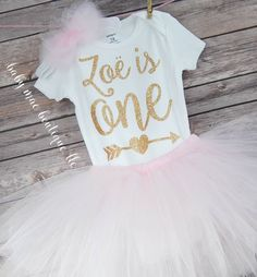 First Birthday Outfit Girl / One Birthday Tutu Outfit / baby girl 'one' tutu outfit / bodysuit & tutu for first birthday by BabyMaeBoutique on Etsy https://www.etsy.com/listing/463848081/first-birthday-outfit-girl-one-birthday