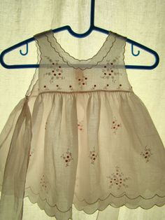 Exquisite Pale Pink Summer Dress/Pinafore for Baby, Embroidered Rosebuds