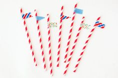 Washi Tape Straws | How to Decorate for Your Next Party with Washi Tape