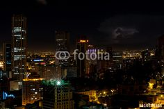 Skyline of Bogota in Colombia at night