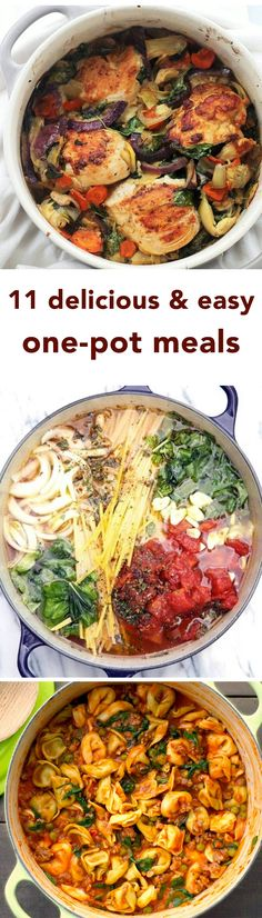 These Delicious One-Pot Meals Are So Simple They Can Almost Cook Themselves. These recipes are gifts from the heavens because they're not only super simple, they also require minimal dishwashing! Love all in one meals! Slow Cooker Recipes, Cooking Recipes, Healthy Recipes, Cheap Recipes, Cheap Meals, Quick Recipes, I Love Food, Good Food, Yummy Food