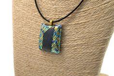 Dichroic fused glass pendant fused glass jewelry boho pendant nature jewelry Dandelion pendant