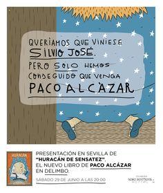 """Sábado 29 a las 20:00 presentación de """"Huracán de Sensatez"""" de Paco Alcázar en Delimbo."""