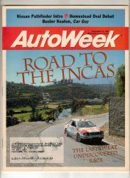 AutoWeek Car Magazine November 13 1995 Acura TL Peru Racing Vintage