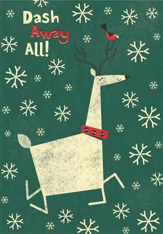Brushstrokes in the world: A Christmas Reindeer / Christmas with reindeer A / A christmas with reindeers