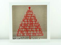 Weihnachtsbild | Weihnachtsdeko | Jingle Bells von von Herzen  auf DaWanda.com