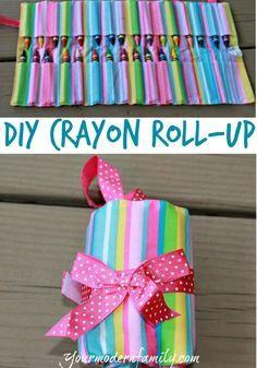 DIY crayon roll-up