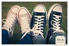 @Kimberly Noller converse knot - cute save the date idea
