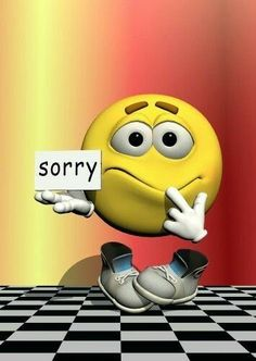 Sorry Smiley. (Pinned also to Greetings/Msgs. - Sorry/sympathy) --Smiley Face
