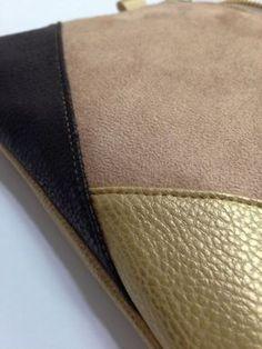 Empiècements en simili cuir et suédine