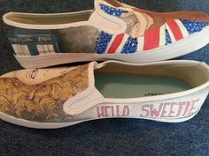 Hand-painted Custom Doctor Who shoes on Vans or TOMS. $85.00, via Etsy.