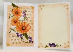 Card Art, Etc.: Blazzing Poppies Mixed Media Attempt