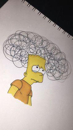 drawings sad Bart Simpson drawing drawings sad Bart Simpson drawing You can work with the pencil drawing techn. Sad Sketches, Sad Drawings, Cool Art Drawings, Pencil Art Drawings, Art Drawings Sketches, Cartoon Drawings, Drawing Drawing, Tumblr Drawings, Sad Paintings