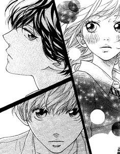 anime, ao haru ride, and mabuchi kou image Futaba Y Kou, Futaba Yoshioka, Anime Manga, Anime Guys, Anime Art, Manhwa, Miraculous, Tanaka Kou, Ao Haru