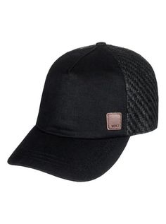 ff9168bda9a Roxy Women s Incognito Trucker Hat (Anthracite Black) Roxy
