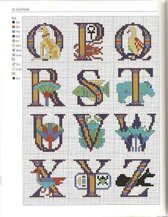 Egypitan theme alphabet 3-of-3 / Google+