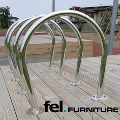 Check out Hauraki Cycle Rack features, dimensions & product specifications. Street Furniture NZ designs & manufactures a range of products — See our full range Cycle Stand, Bicycle Rack, 316 Stainless Steel, Street Furniture, Powder Coating, Surface, Bead, It Is Finished, Stylish