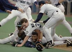 Griffey! '95 Slide - Seattle Mariners. The most memorable game I ever had the honor of watching. They made Seattle proud !