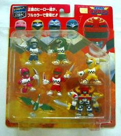 Power Ranger Lost Galaxy Gingaman - Pocket Hero Mini Figure Megazord Set Yukata