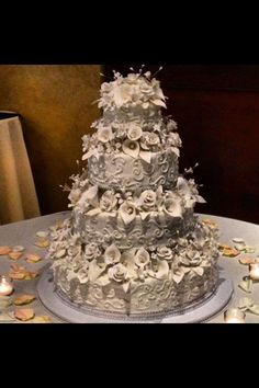 Beautiful Wedding cake made by my aunt!