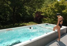 The NEW 19' Dual Temperature Endless Pools Swim Spa is now available! Swim and exercise at home in the 15' swim end, then relax in a warm hot tub with 55 directional jets.