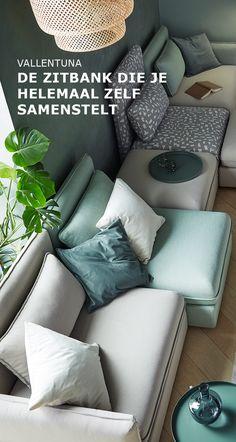VALLENTUNA bank is samen te stellen naar jouw smaak   #IKEA #IKEAnl #ElkProductEenGoedVerhaal #zitbank #multifunctioneel #smaak #behoefte #comfortabel #slaapbank #zitcombinatie