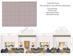 paper cutouts for furniture | Paper Crafts – Home Models – Green and Brick House w/Landscaping