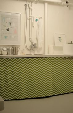 easy laundry room updates for an unfinished basement