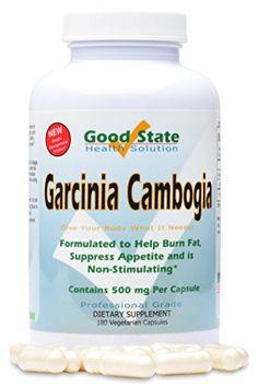 Good State Garcinia Cambogia Extract 500mg Vegetarian Capsule - 180 Capsules