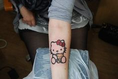 Best Hello Kitty I've ever seen done by Jack Burman at Classic Ink Tattoo at Clevelys